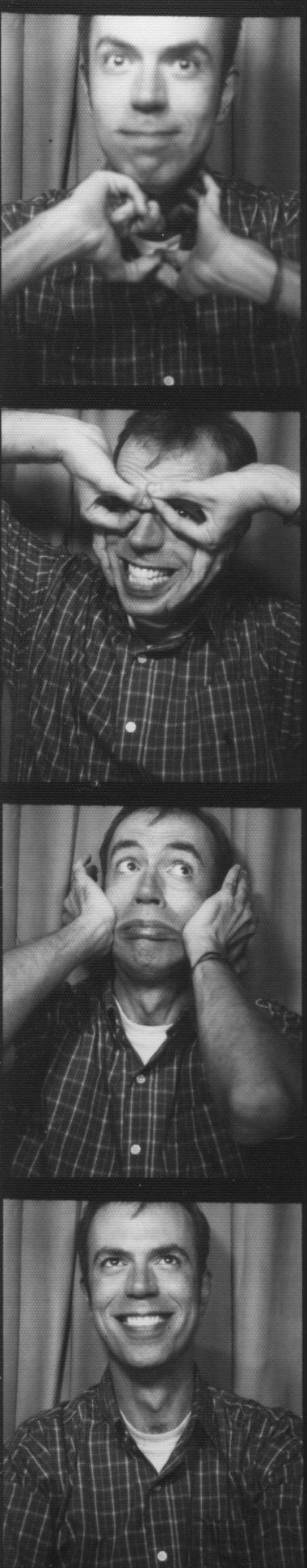 Some (flattering) pictures taken in a photo booth at a wedding.