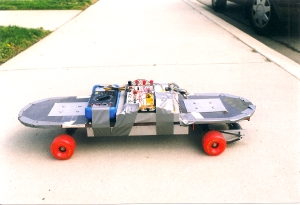 V-1 of the weight-sensing electric skateboard.